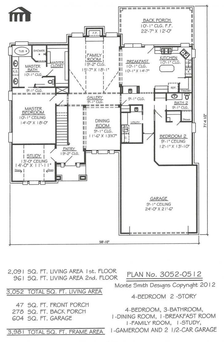 One Story 2 Bedroom House Plans 2020