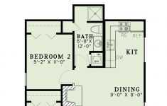 One Story 2 Bedroom House Plans New Traditional Style House Plan With 2 Bed 1 Bath