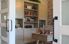 Sliding Door Wall Cabinet Beautiful Fice With Sliding Barn Doors And Gray Painted Built In