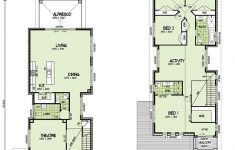 Small Block House Plans New Narrow Home Design Plans
