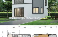 Small House Plan Design Unique Small Home Plans 7x6 5m With 4 Bedrooms