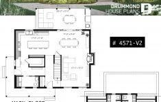 Small House Plans Open Concept New House Plan Beausejour 4 No 4571 V2