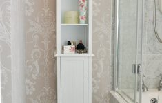 Tall White Cabinet With Doors Elegant Tall White Shaker Style Bathroom Cabinet Free Standing
