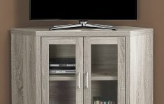 Tv Cabinet With Doors To Hide Tv Beautiful Could Do A Corner Tv Cabinet To Conceal Basement Floor Drain