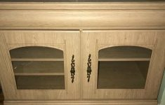 Tv Cabinet With Glass Doors Awesome Used Condition Tv Cabinet With Glass Doors Light Oak In Limehouse London