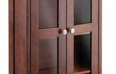 Wood Cabinet With Glass Doors Best Of Winsome Wood Holden Media Entertainment Antique Walnut