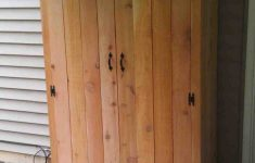 Wood Storage Cabinets With Doors Awesome Outdoor Cabinet Doors With Images