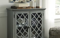 Accent Cabinet With Doors Elegant Mirimyn Antique Gray Accent Cabinet With Lattice Framed