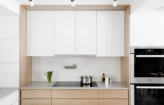 Acrylic Cabinet Doors New In This Updated Kitchen White Lacquered Doors For The