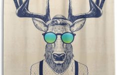 Antler Bathroom Decor Lovely Amazon Wamika Shower Curtain Antlers Deer With