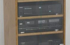Audio Cabinet With Glass Doors Best Of New Stereo Cabinet With Glass Door Rack Ponent Oak Audio