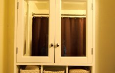 Bathroom Cabinet With Glass Doors Awesome Classy White Wooden Bathroom Wall Cabinet With Glass Door