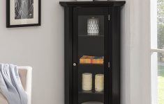 Corner Storage Cabinet With Doors Luxury Kings Brand Furniture Corner Curio Storage Cabinet With Glass Door Black Finish