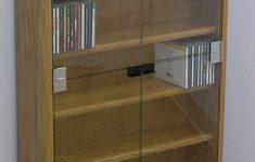 """Dvd Cabinets With Doors Best Of Dvd Cd Bookcase With Glass Doors 27"""" 72"""" High Oak Maple Usa Made"""