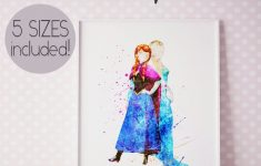 Frozen Bathroom Decor Best Of Anna And Elsa Frozen Wall Art Print Princess Anna Poster
