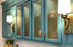 Glass Cabinet Door Inserts Online Unique How To Add Wire Mesh Grille Inserts To Cabinet Doors The