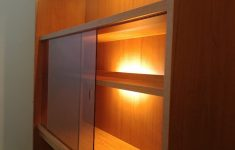 Hidden Cabinet Door Awesome Wooden Display Cabinet Hidden Lights In Lewes Für £ 50