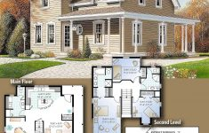 House Plans For Small Country Homes Fresh Plan 2199dr Narrow Lot Country Home Plan In 2020