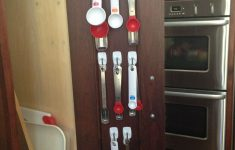 How To Measure Cabinet Doors Lovely Measuring Spoons Organized On The Back Of My Kitchen Cabinet