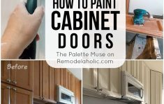 How To Paint Cabinet Doors Without Brush Marks Best Of Remodelaholic