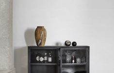 Low Cabinet With Doors Beautiful Iron Cabinet With Wheels From Muubs The Cabinet Can Be Used