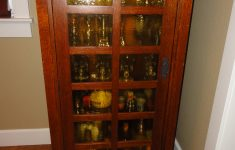 Mission Style Cabinet Doors Unique Tall Mission Style Display Cabinet With Light – Sold