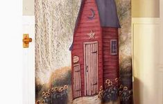 Outhouse Bathroom Decor Inspirational Outhouse Bathroom Collection Primitive Home Rustic Artwork Pam Britton Fabric