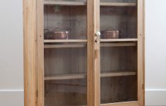 Pine Cabinet Doors Awesome Antique Pine Display Cabinet With Glass Doors Gorgeous