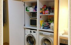 Retractable Cabinet Doors Beautiful Perfect Laundry Space Love The Hideaway Doors