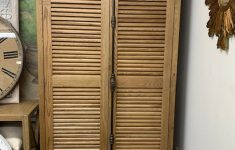 Shutter Cabinet Doors Beautiful Shutter Double Door Cabinet Oak Natural