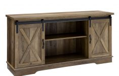"Sliding Door Tv Cabinet Best Of 58"" Farmhouse Tv Stand With Sliding Barn Doors Reclaimed"