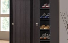 Tall Shoe Cabinet with Doors Elegant Loving This Dark Brown Sliding Door Roland Cabinet On
