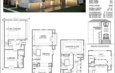 Town House Plans Modern New Four Story Townhouse Plan E2049 A2 1
