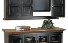 Tv Cabinet With Doors For Flat Screen Inspirational Sumner Flat Screen Tv Wall Cabinet & Console
