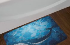"Whale Bathroom Decor Elegant Details About Nautical Whale Bath Mat Bathroom Decor Plush Non Slip Mat 29 5"" X 17 5"""