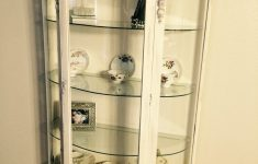 White Curio Cabinet Glass Doors Fresh Grandmothers Curio Cabinet Up Cycle Painted It With An