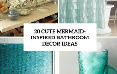 Aqua Bathroom Decor Lovely 20 Cute Mermaid Inspired Bathroom Décor Ideas Shelterness
