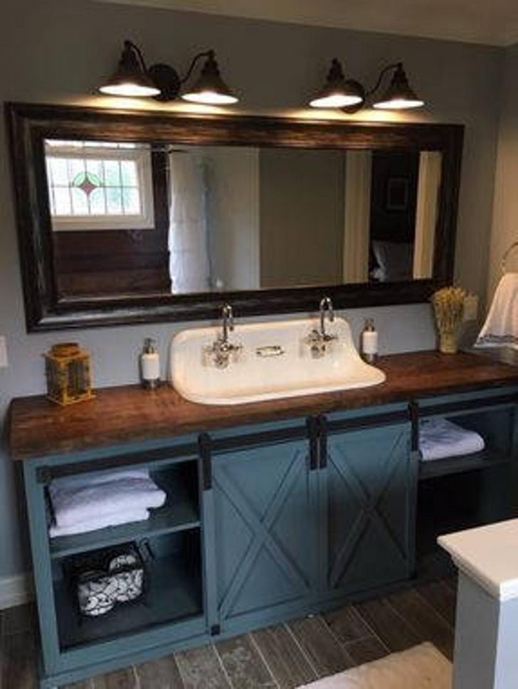 Barn Door Bathroom Cabinet 2021