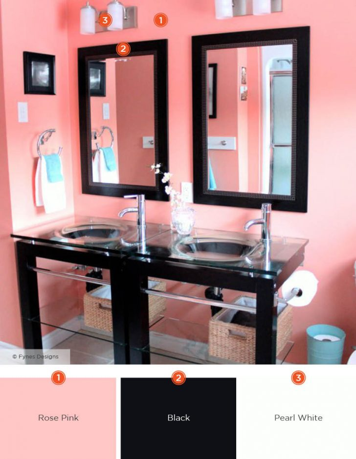 Black and Pink Bathroom Decor 2020