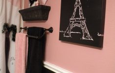 Black And Pink Bathroom Decor Fresh Black And Pink Paris Bathroom Shower Curtain And