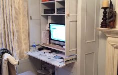 Computer Cabinet With Doors Lovely Painted Workstation Pull Out Desk Fold Away Doors