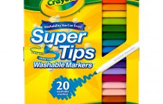 Crayola Bathroom Decor New Crayola Washable Super Tip Marker Set 20 Color