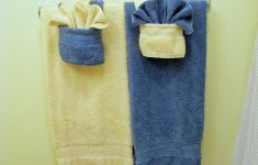 Hanging Decorative Towels In Bathroom Unique Fold Fancy Towels W Pockets 5 Steps With