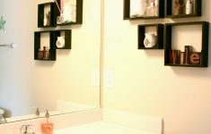 How To Decorate A Bathroom Wall Best Of Ideas For A Small Wall Shelves Decorations Bathrooms