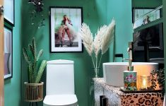 Leopard Bathroom Decor Inspirational Quirky Downstairs Toilet Makeover Teal & Leopard Decor