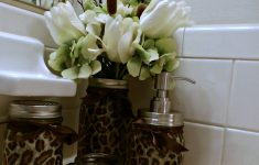 Leopard Bathroom Decor New Leopard Print Bathroom Accessories Set Sold By Mrs Miller S Gift Shop