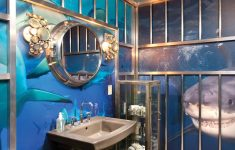 Ocean Decorations For Bathroom Elegant Bathtastic A Bathroom That Looks Like A Shark Diving Cage