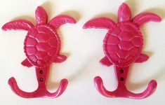 Sea Turtle Bathroom Decor Inspirational Hot Pink Sea Turtle Hooks Set Of 2 Bathroom Kitchen Nursery Decor Hanger For Keys Jewelry Towels
