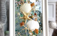 Seashell Decor Bathroom Awesome Sea Glass Art For Beach Decor Seashell Wall Art For