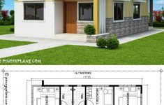 Simple Model House Picture Beautiful Home Design 10x16m With 3 Bedrooms